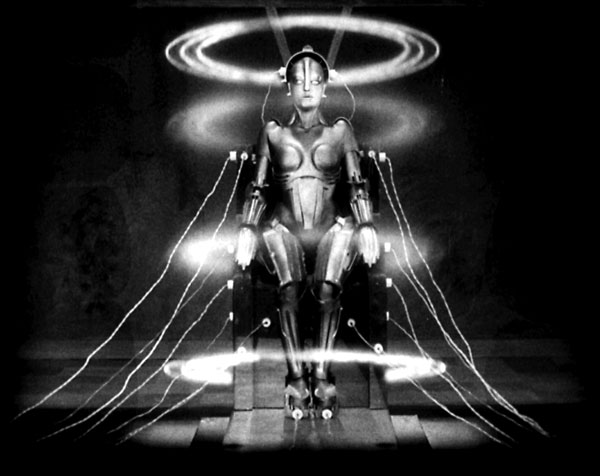 [Human Being in an Inhuman Age] Photo credit: Photo credit: Metropolis (1927 Germany), directed by Fritz Lang. Shown: The Robot/Brigitte Helm Credit: UFA/Photofest copyright UFA