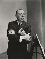 [Program SixAgainst Interpretation and Expression: The Aesthetics of Mechanization] Igor Stravinsky, 1882-1971, Russian composer, photograph, 1949 