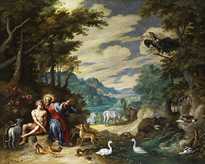 [Joseph Haydn The Creation] Creation of Adam in the Paradise, Jan Brueghel the Younger