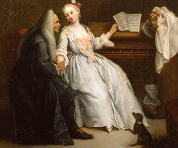 [Panel Two:Defining the Italian: The Role of Music] The Music Lesson, painting by Pietro Longhi