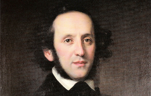 [Program FiveJews in the Musical Culture of Europe] Portrait of Felix Mendelssohn by Edward Magnus, Wikimedia Commons