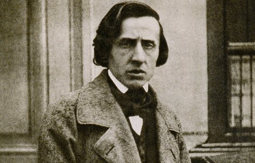 [Program SevenChopin and the Piano] Photograph of Chopin by Louis-Auguste Bisson, 1847; Wikimedia Commons