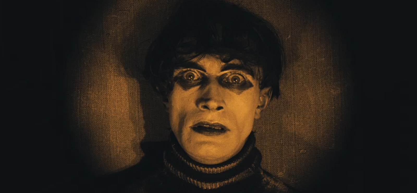 [The Cabinet of Dr. CaligariWith a live, original score by Chris Washburne] Conrad Veidt in The Cabinet of Dr. Caligari (1920); Wikimedia Commons
