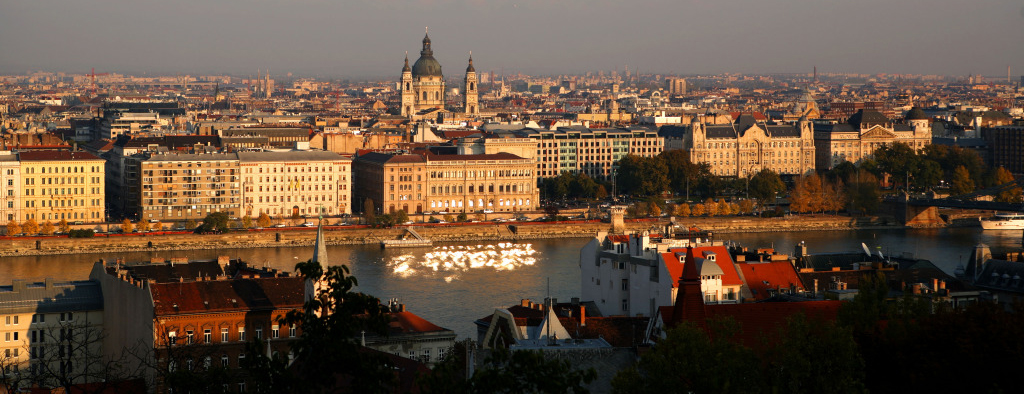 The river Danube in Budapest, Hungary