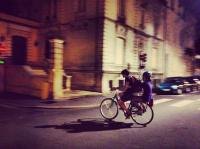 Kids on bikes, Tours, France. © Jin Jun
