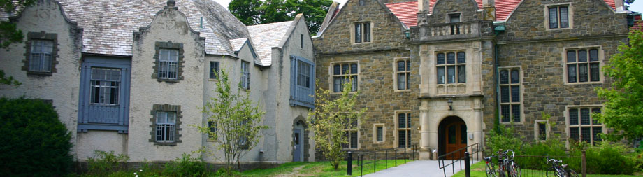 Located in North Campus, this 19th century Victorian manor is home to upper college students.