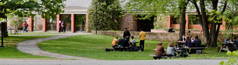 Kline Commons is the main dining facility on campus, and is centrally located a short walk away from the Library, the Campus Center and Olin Hall.