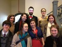 Latin students attending Spring 2013 performance of Seneca's