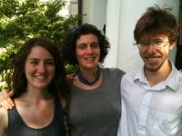 Diana Minsky with two seniors, Toby Williams and Trina Ross