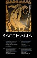 The events of our Spring Bacchanal, 2013