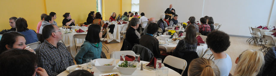 Family members gather for lunch, connecting with each other and sharing their Bard stories.