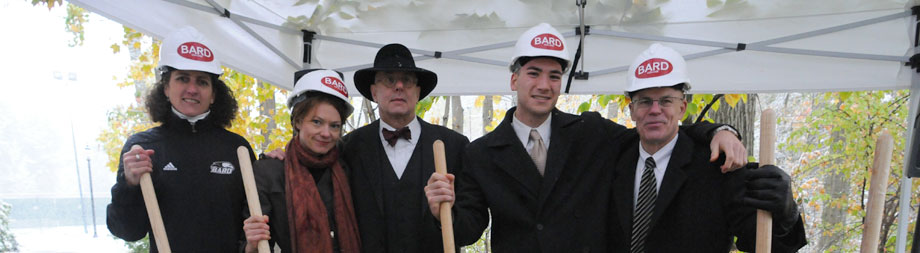Groundbreaking ceremony for the Charles P. Stevenson Jr. gymnasium expansion in 2012.