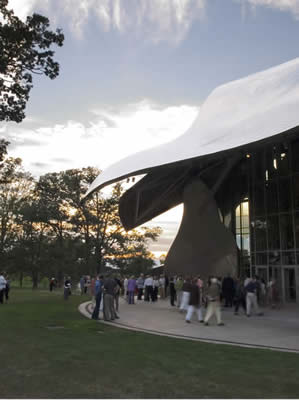 The Frank O. Gehry designed Richard B. Fisher Center for the Performing Arts