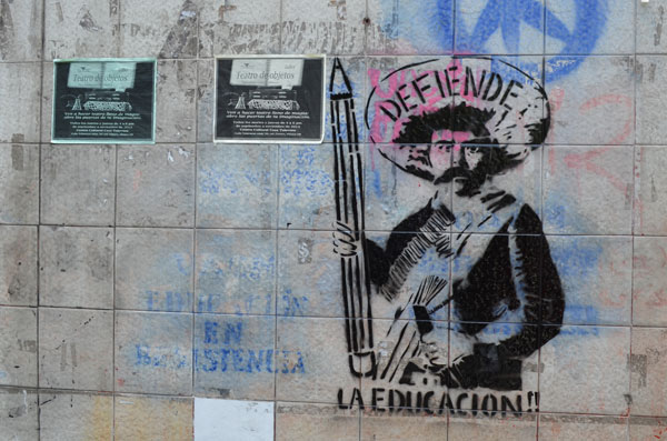 Pintada en la ciudad de México. Fotogragía de Andalusia Knoll.