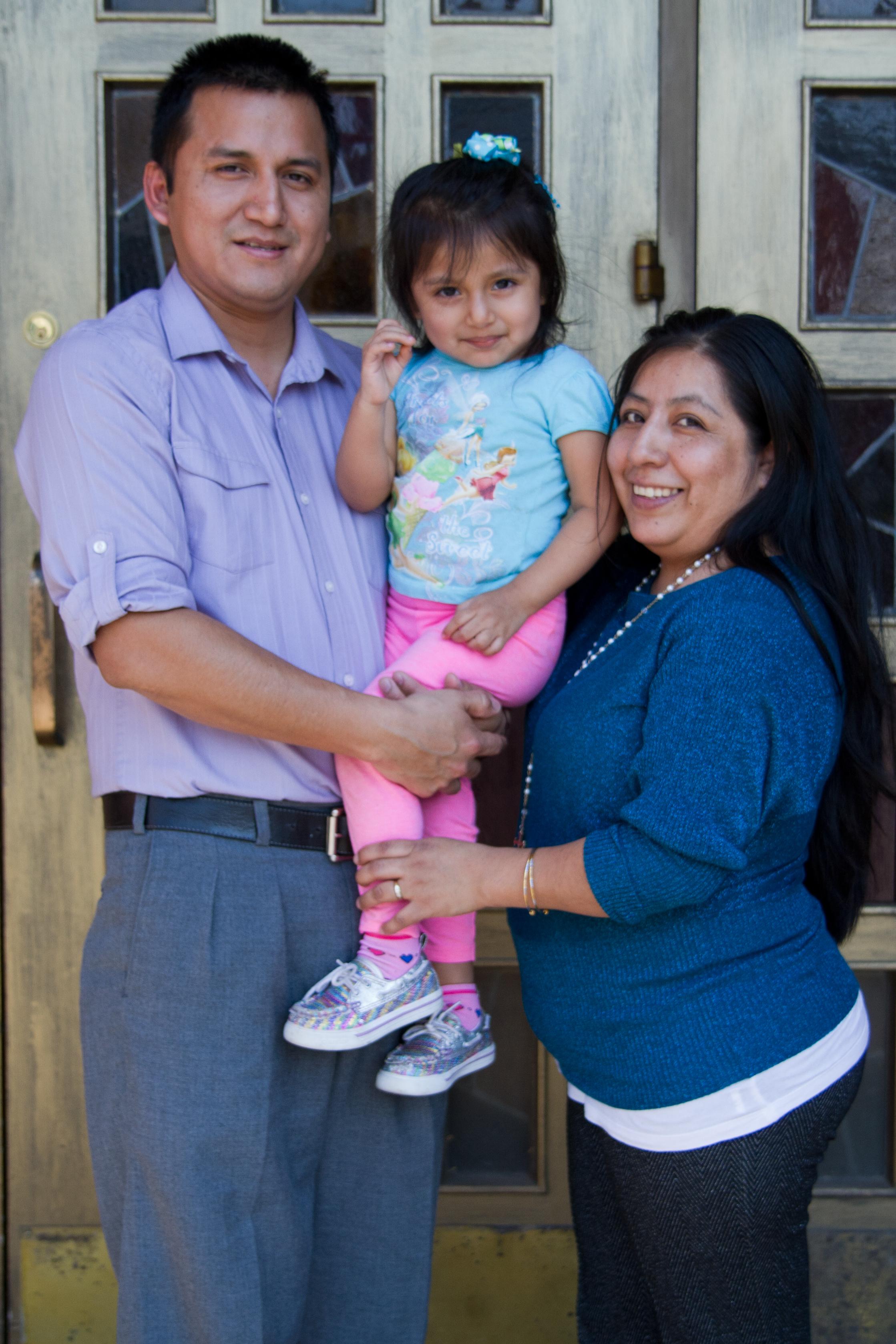 Familia hispana de Poughkeepsie. Foto de Felipe Santos