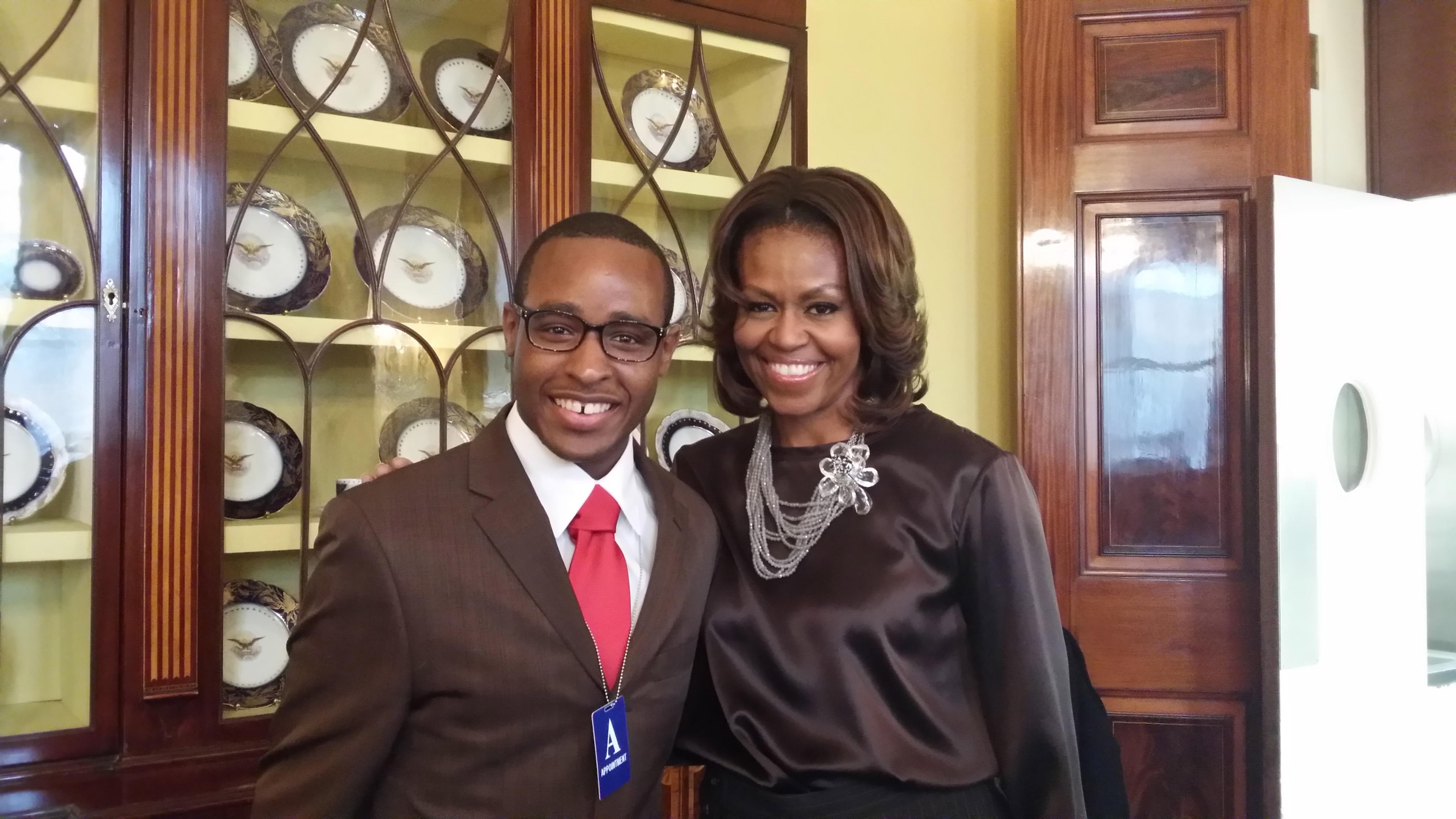 Troy Simon y la Primera Dama, Michele Obama