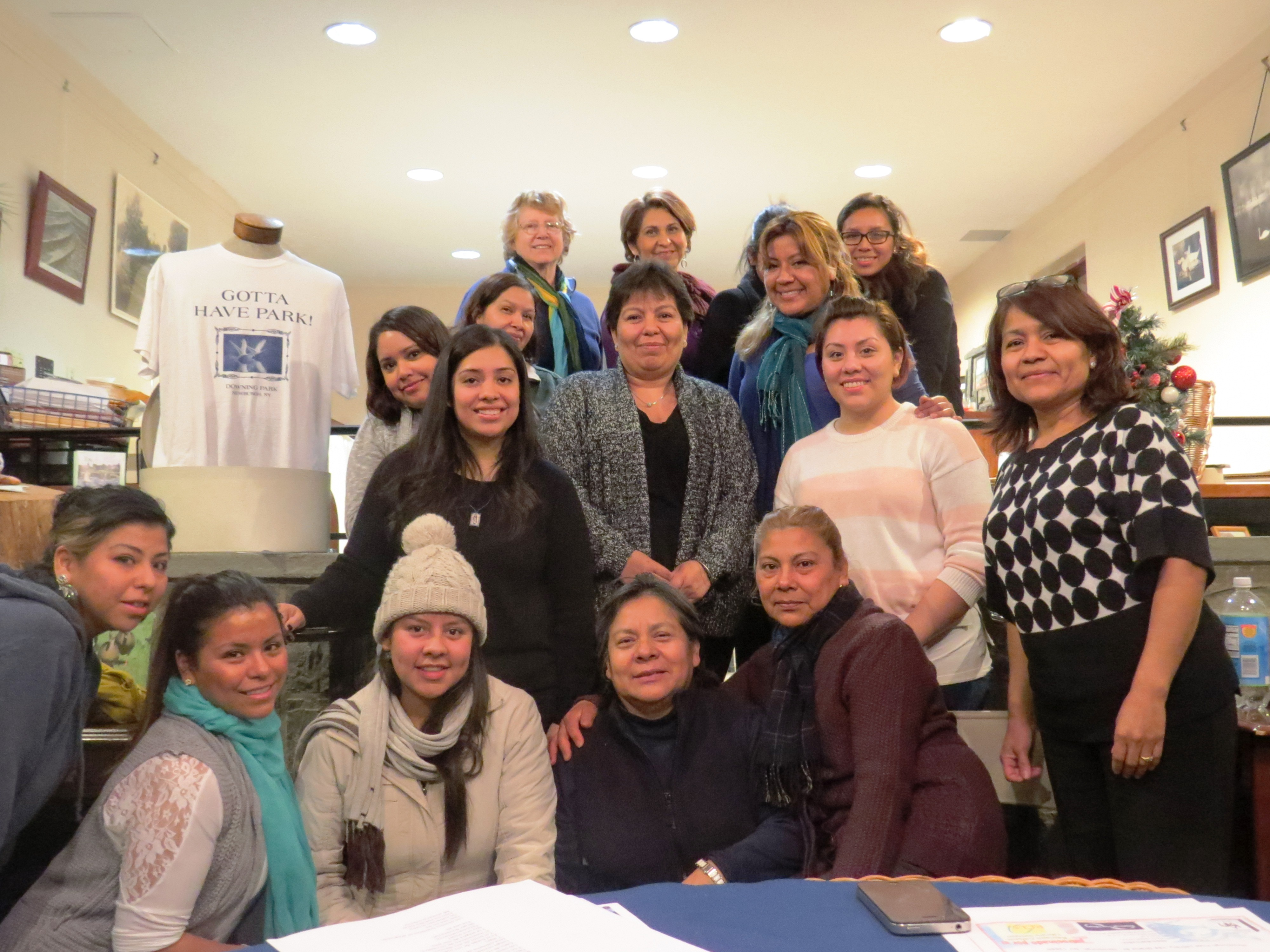 Women who attended the first meeting of the Hudson Valley Latina Women Group. Double this amount attended their second meeting!