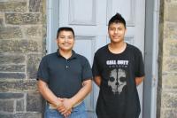 Cristian con su padre Miguel