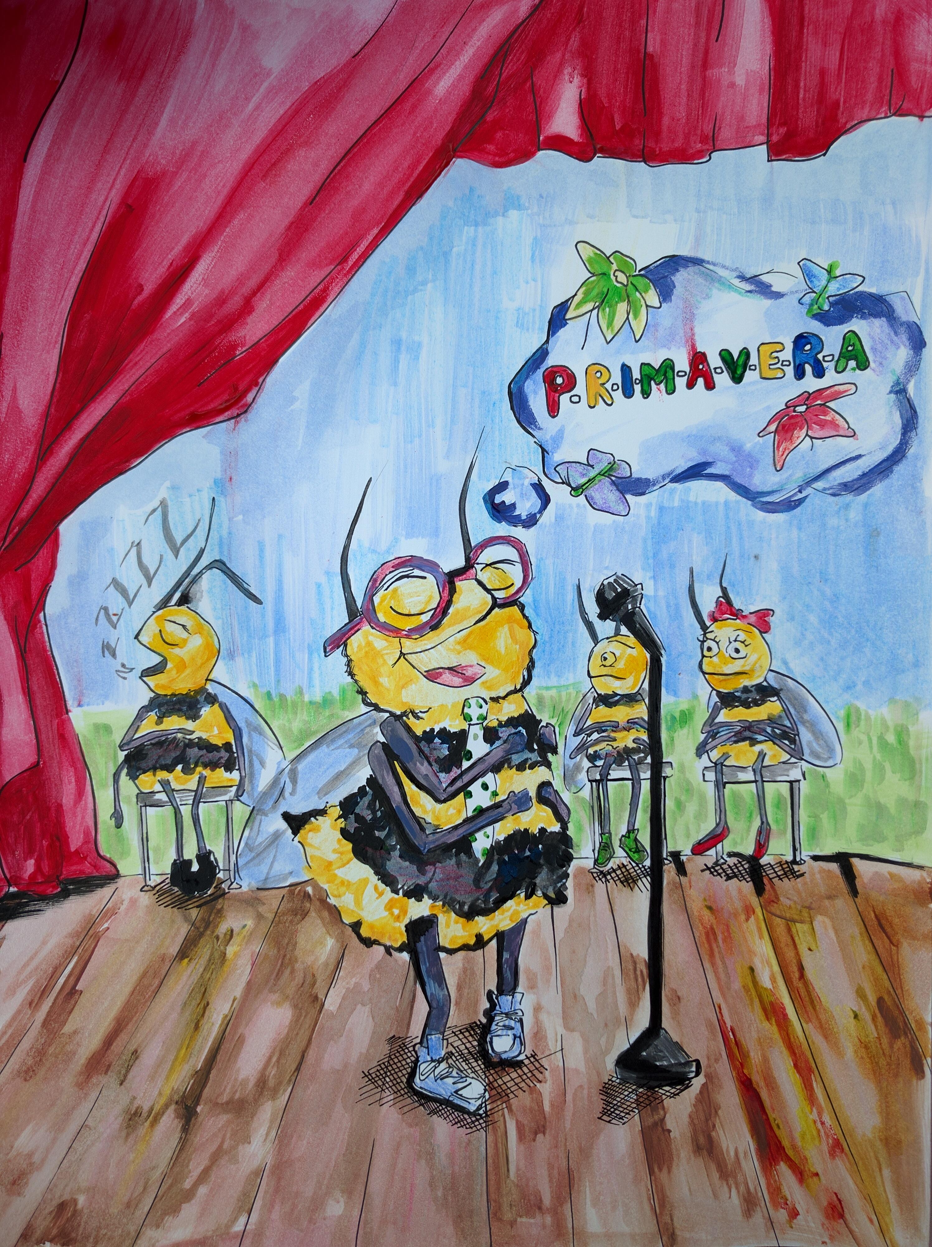Imagen de la portada de La Voz de abril, por la estudiante de arte Maria Scrudato
