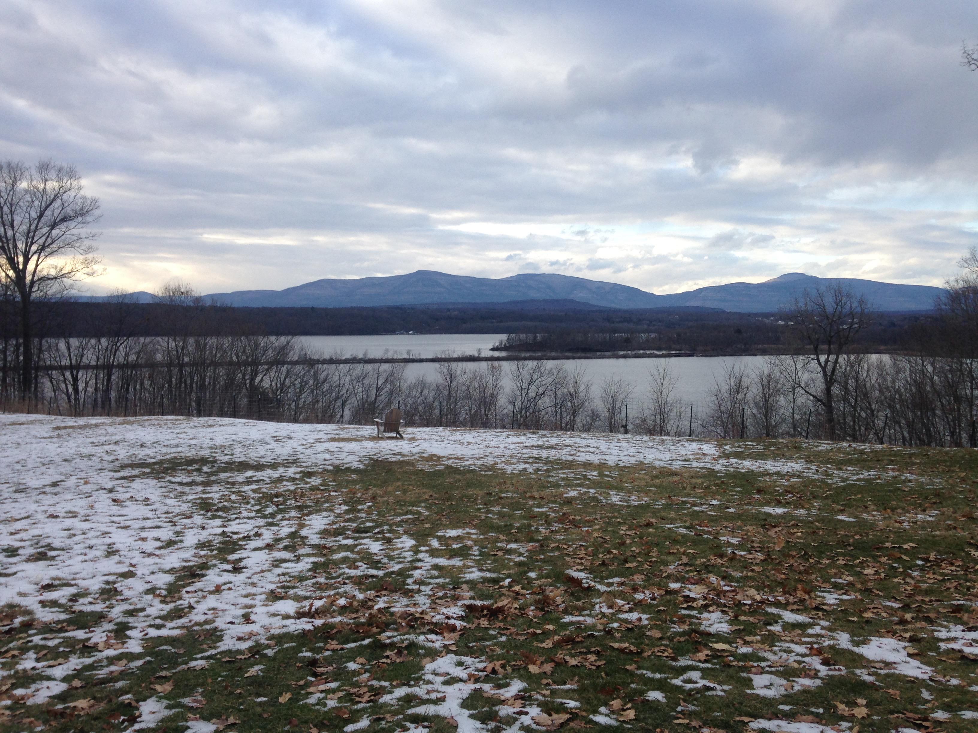 Vista del Hudson River en invierno, foto de Natalie Schuman