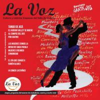 Portada de La Voz de noviembre 2015, ilustración del artista Néstor Madalengoitía