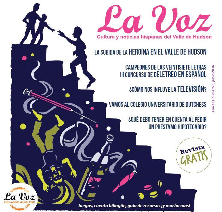 Imagen de la portada de La Voz de junio 2016, a cargo del artista Ric Jones.