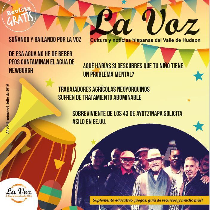 Imagen de la portada de La Voz de Julio 2016, por Pilar Roca